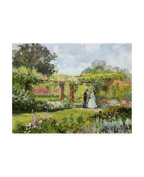 "Trademark Global Peter Snyder Secret Garden Couple Canvas Art - 36.5"" x 48"""
