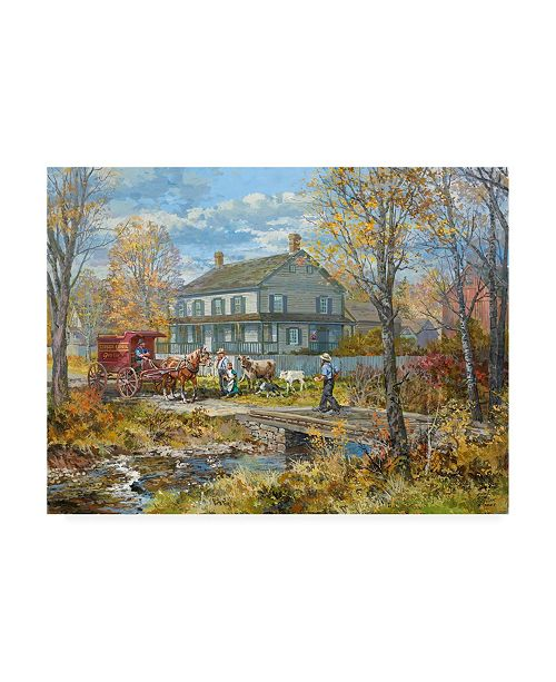 "Trademark Global Peter Snyder Autumn at the Schneider House Canvas Art - 36.5"" x 48"""