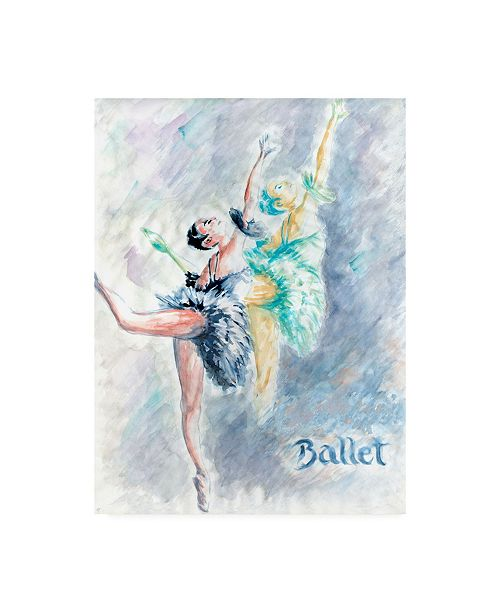 "Trademark Global Peter Potter Ballet Dancers Abstract Canvas Art - 27"" x 33.5"""