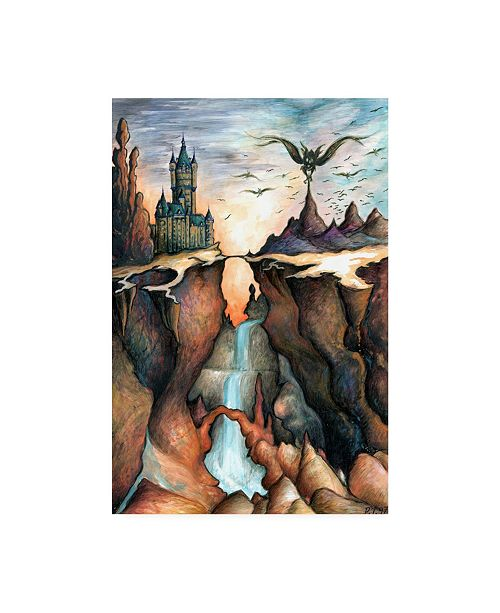 "Trademark Global Peter Potter Mysterious Canyon Canvas Art - 27"" x 33.5"""