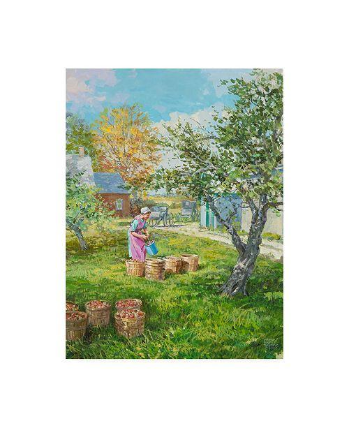 """Trademark Global Peter Snyder Filling the Bushels Canvas Art - 15.5"""" x 21"""""""