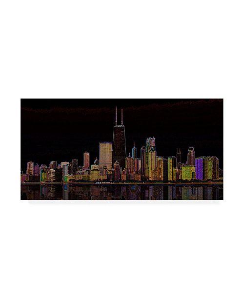 "Trademark Global Ellicia Amando Chicago Glowing Canvas Art - 15.5"" x 21"""