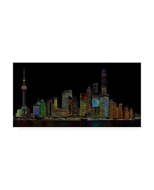 "Trademark Global Ellicia Amando Shanghai Glowing Canvas Art - 15.5"" x 21"""