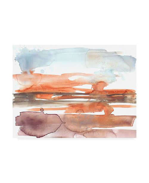 "Trademark Global Jennifer Goldberger Sunset Horizon I Canvas Art - 19.5"" x 26"""