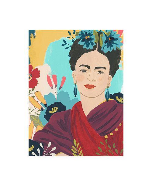 """Trademark Global June Erica Vess Frida's Garden II Canvas Art - 36.5"""" x 48"""""""