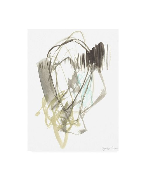 "Trademark Global Jennifer Goldberger A Touch of Mint I Canvas Art - 36.5"" x 48"""