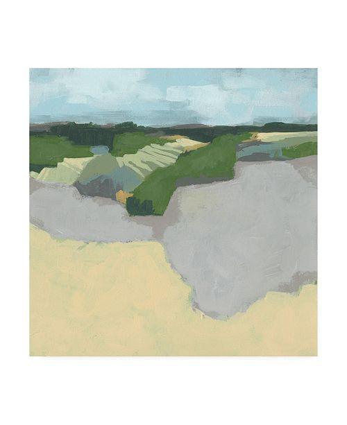 "Trademark Global June Erica Vess Far and Away Beach I Canvas Art - 36.5"" x 48"""