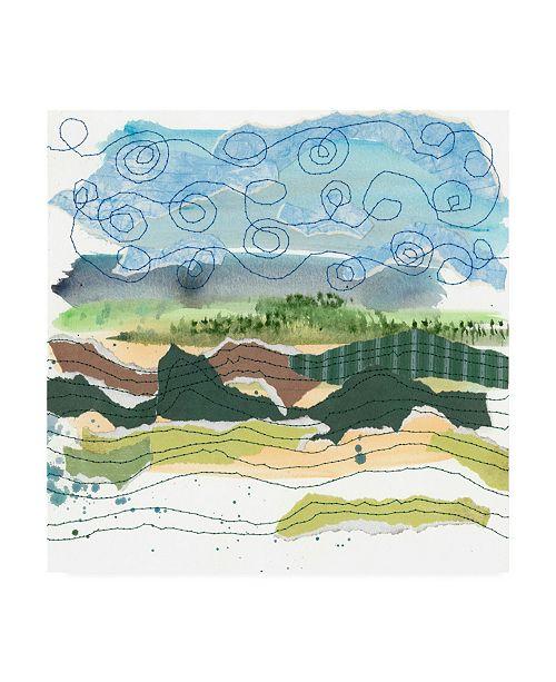 "Trademark Global Regina Moore Stitched Landscape IV Canvas Art - 36.5"" x 48"""