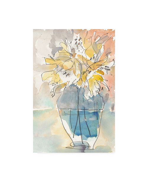 "Trademark Global Samuel Dixon Lilium in Vase I Canvas Art - 19.5"" x 26"""