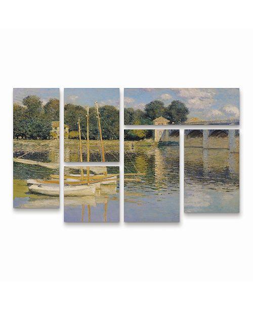 "Trademark Global Monet The Bridge at Argenteuil Multi Panel Art Set 6 Piece - 49"" x 19"""