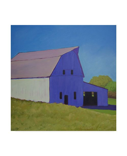 "Trademark Global Carol Young Barn Over the Hill Canvas Art - 20"" x 25"""