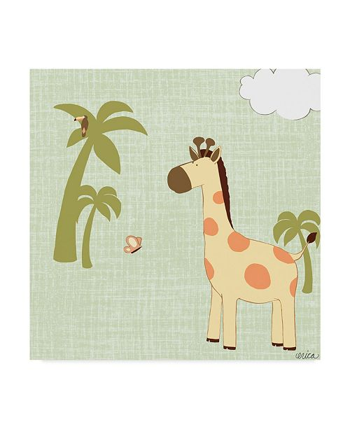 "Trademark Global June Erica Vess Baby Jungle I Canvas Art - 20"" x 25"""