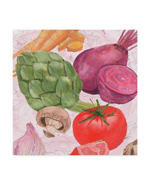 "Trademark Global Leslie Mark Veggie Medley I Canvas Art - 20"" x 25"""