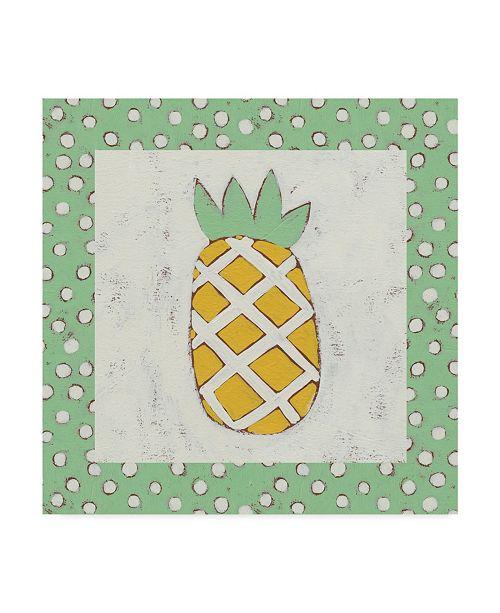 "Trademark Global Chariklia Zarris Pineapple Vacation II Canvas Art - 20"" x 25"""