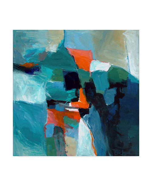 "Trademark Global Edie Fagan Blue Aerial I Canvas Art - 15"" x 20"""