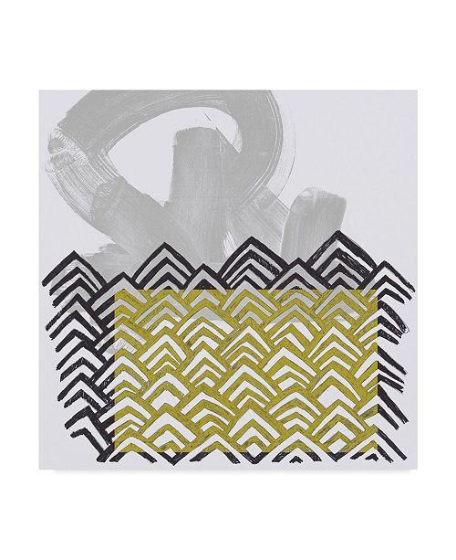 "Trademark Global June Erica Vess Block Print Abstract II Canvas Art - 15"" x 20"""