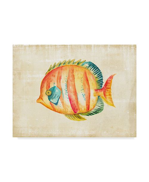 "Trademark Global Chariklia Zarris Aquarium Fish II Canvas Art - 15"" x 20"""
