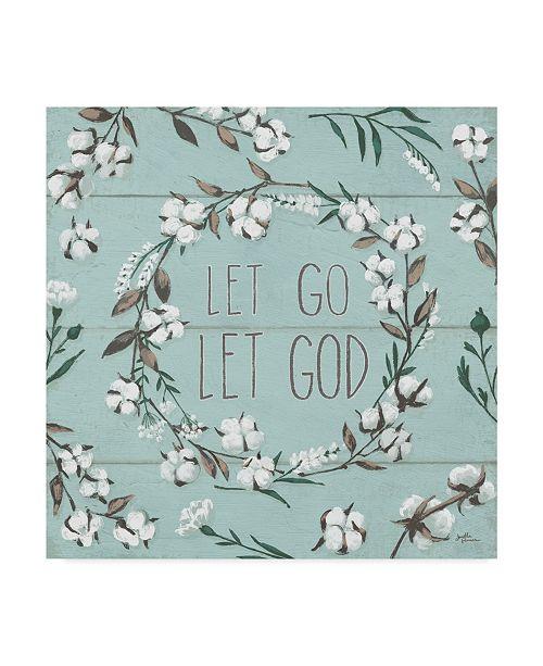 """Trademark Global Janelle Penner Blessed VII Mint Let Go Let God Canvas Art - 20"""" x 25"""""""