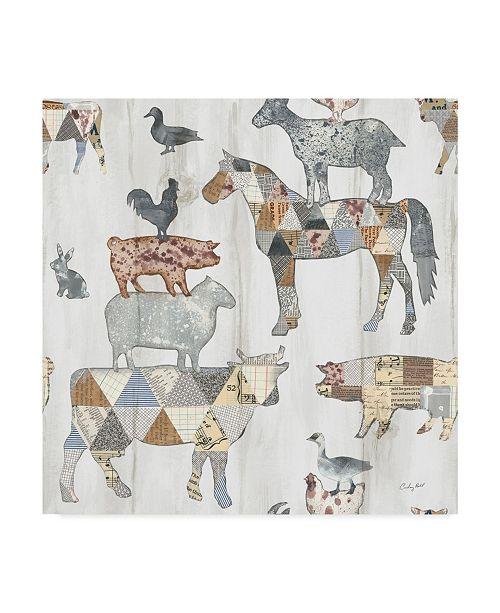 "Trademark Global Courtney Prahl Farm Family Pattern IV Canvas Art - 15"" x 20"""
