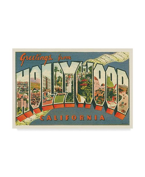 "Trademark Global Wild Apple Portfolio Greetings from Hollywood V2 Canvas Art - 20"" x 25"""