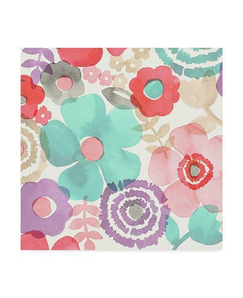 "Trademark Global Diane Kappa Ocean Shores Floral I Canvas Art - 15"" x 20"""