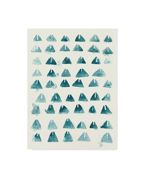 "Trademark Global June Erica Vess Blue Batik Motif III Canvas Art - 20"" x 25"""