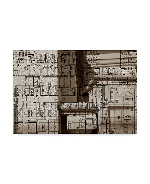 "Trademark Global Sisa Jasper Architecture Drawing IV Canvas Art - 20"" x 25"""