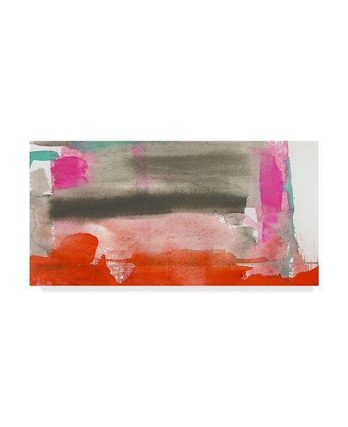 "Trademark Global Jennifer Goldberger Red, Pink and Grey III Canvas Art - 20"" x 25"""