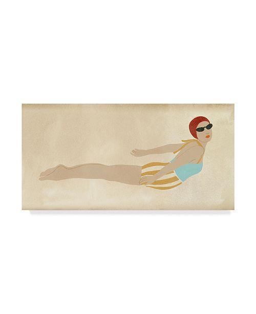 """Trademark Global June Erica Vess Vintage Diver I Canvas Art - 20"""" x 25"""""""