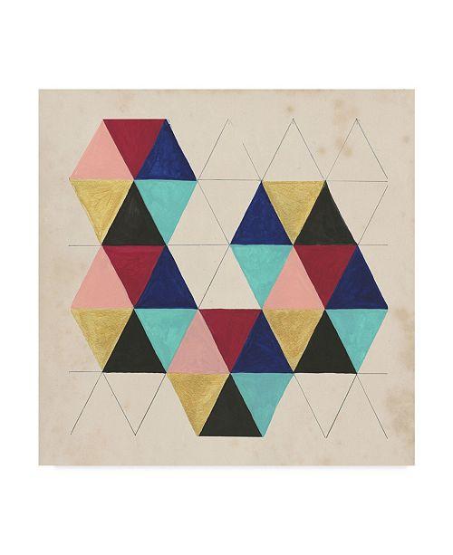 "Trademark Global Naomi Mccavitt Geometric Pattern Play III Canvas Art - 20"" x 25"""