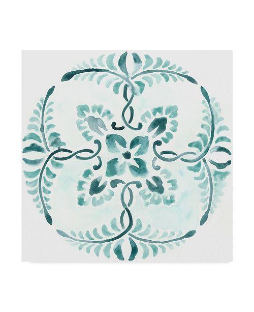 """Trademark Global June Erica Vess Aqua Medallions VI Canvas Art - 15"""" x 20"""""""