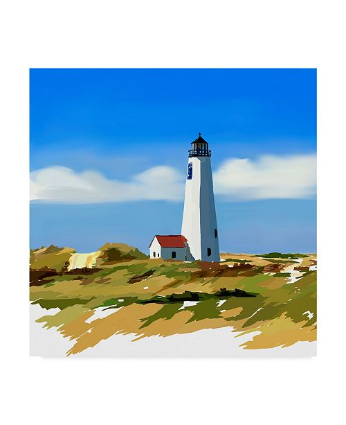 "Trademark Global Emily Kalina Lighthouse Scene IV Canvas Art - 27"" x 33"""