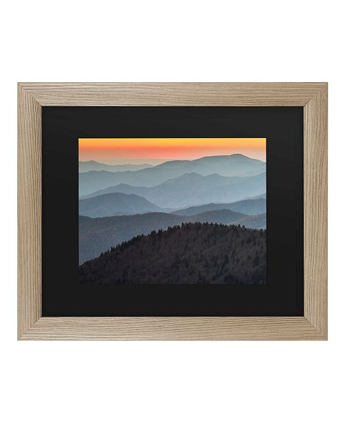 "Trademark Global Pierre Leclerc Great Smoky Sunset Matted Framed Art - 27"" x 33"""