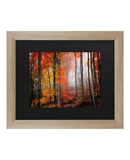 """Trademark Global Philippe Sainte-Laudy Wildly Red Matted Framed Art - 27"""" x 33"""""""