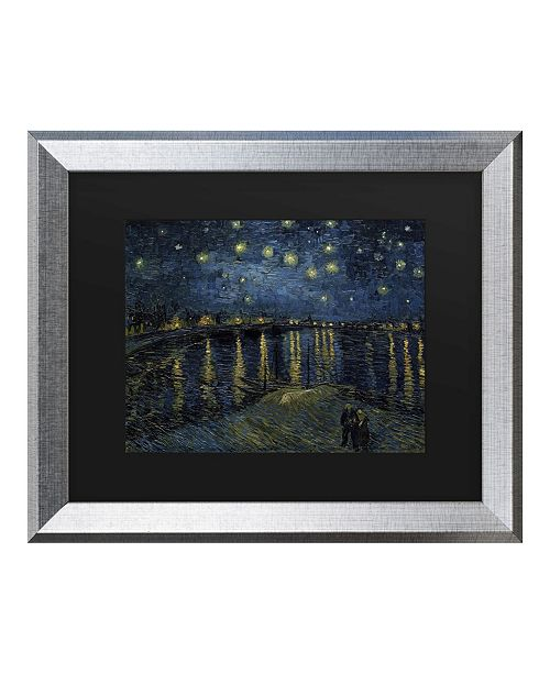 "Trademark Global Vincent Van Gogh The Starry Night II Matted Framed Art - 20"" x 25"""
