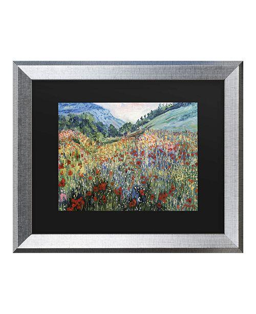 "Trademark Global Masters Fine Art Field of Wild Flowers Matted Framed Art - 20"" x 25"""