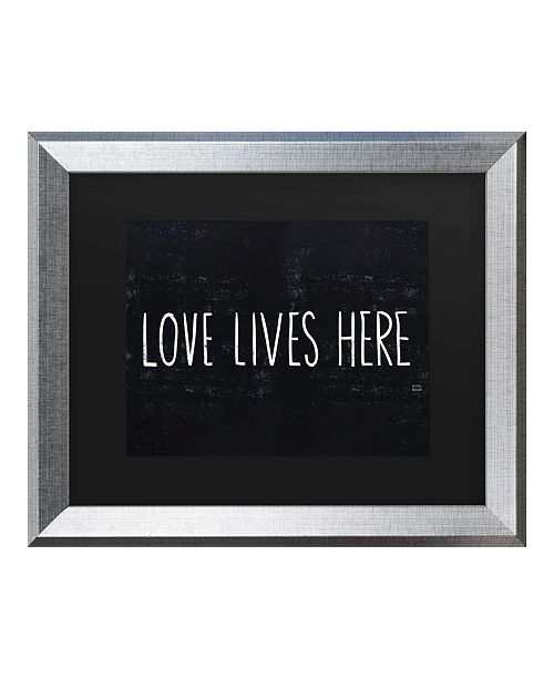"Trademark Global Michael Mullan Love Lives Here Matted Framed Art - 20"" x 25"""