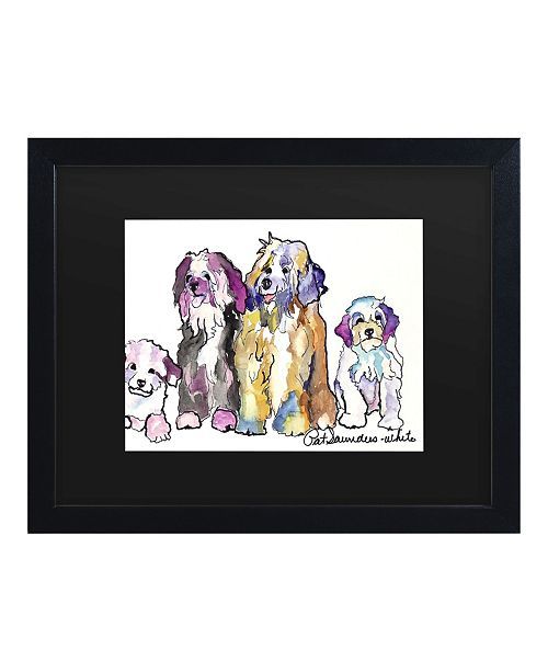 "Trademark Global Pat Saunders-White The Gang Matted Framed Art - 15"" x 20"""