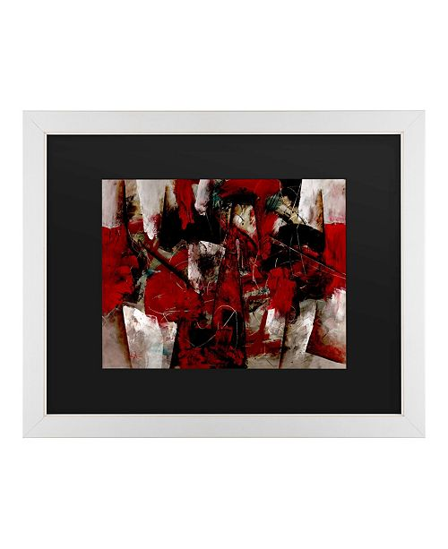 """Trademark Global Masters Fine Art Abstract IV Matted Framed Art - 20"""" x 25"""""""