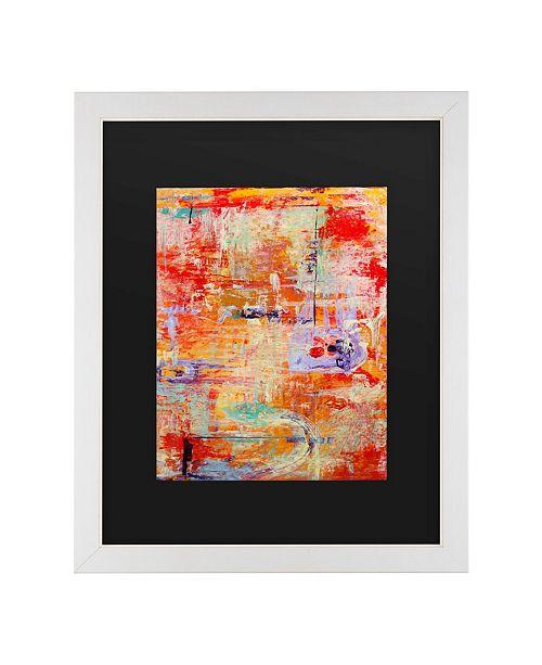 """Trademark Global Pat Saunders-White Odessy Matted Framed Art - 20"""" x 25"""""""
