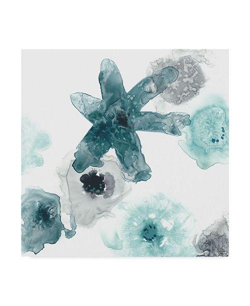 "Trademark Global June Erica Vess Floating Indigo II Canvas Art - 27"" x 33"""
