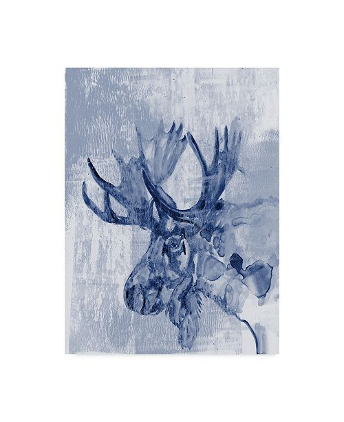 "Trademark Global Jennifer Goldberger Indigo Moose Canvas Art - 37"" x 49"""