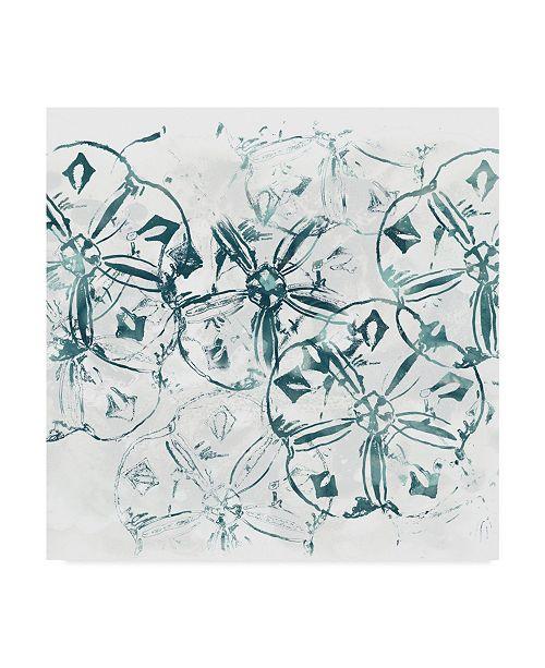 "Trademark Global June Erica Vess Sea Life Batik VIII Canvas Art - 15"" x 20"""