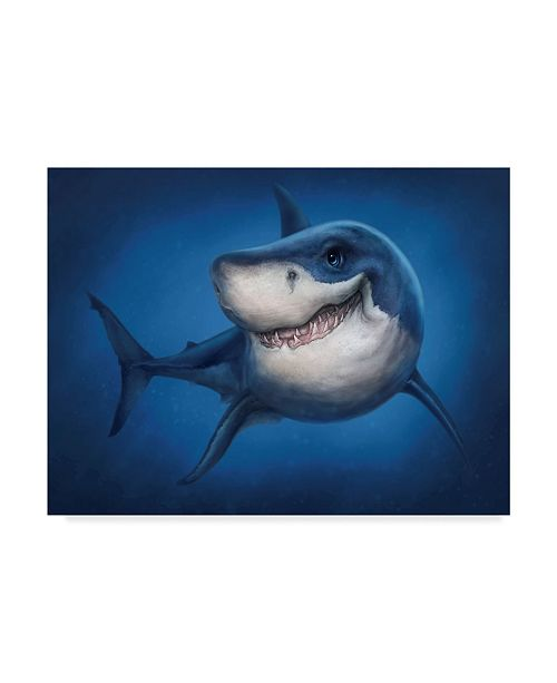 "Trademark Global Patrick Lamontagne Shark Totem Canvas Art - 37"" x 49"""