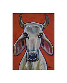 """Hippie Hound Studios Cow Pablo Canvas Art - 37"""" x 49"""""""