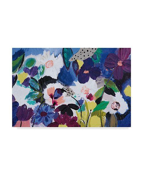 "Trademark Global Joan E. Davis Happy Flower Bar III Canvas Art - 20"" x 25"""