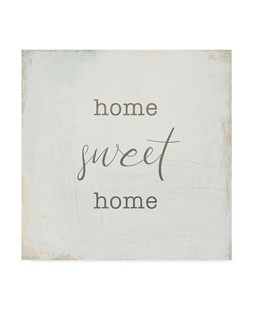 "Trademark Global Wild Apple Portfolio Home Sweet Home I Script Canvas Art - 27"" x 33"""