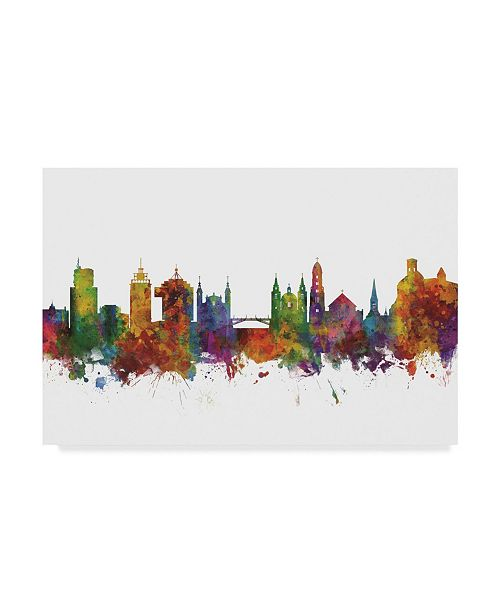"Trademark Global Michael Tompsett Ljubljana Slovenia Skyline II Canvas Art - 20"" x 25"""