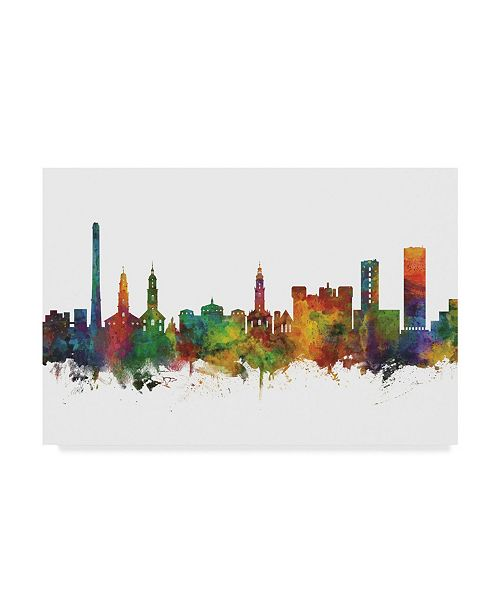 "Trademark Global Michael Tompsett Erlangen Germany Skyline II Canvas Art - 37"" x 49"""