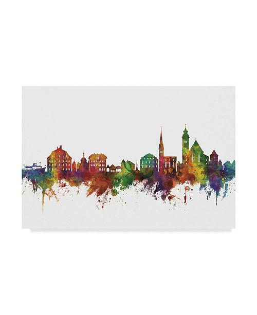 "Trademark Global Michael Tompsett Hallstatt Austria Skyline II Canvas Art - 20"" x 25"""